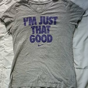 Nike athletic tee size large in girls